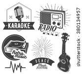 vector set of karaoke and music ... | Shutterstock .eps vector #380134957