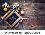 Easter Egg Over Wooden Surface
