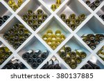 Wines White Wooden Shelve In...