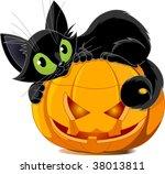 A Cute Black Cat Lying On A...