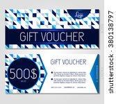 gift voucher. vector ...   Shutterstock .eps vector #380138797
