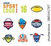 sport logo design set | Shutterstock .eps vector #380141797