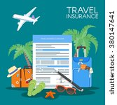 travel insurance form concept...   Shutterstock .eps vector #380147641