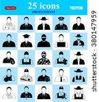 professions 25 icons set for... | Shutterstock .eps vector #380147959