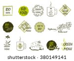stickers on the theme of... | Shutterstock .eps vector #380149141
