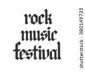 poster for rock music festival. ... | Shutterstock .eps vector #380149735