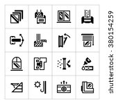 set icons of modern window