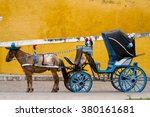 Horse Carriage In Izamal Mexico