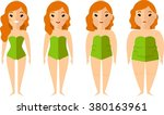 vector illustration fat and... | Shutterstock .eps vector #380163961