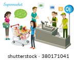 people are shopping in... | Shutterstock .eps vector #380171041