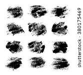 set of black textured prints... | Shutterstock .eps vector #380175469