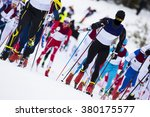 cross country skiing... | Shutterstock . vector #380175577
