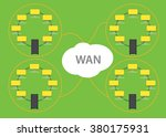 wan wide area network with... | Shutterstock .eps vector #380175931