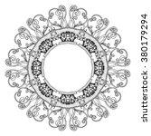 circular pattern  ethnic ... | Shutterstock .eps vector #380179294