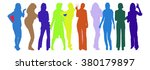 vector silhouettes making a... | Shutterstock .eps vector #380179897