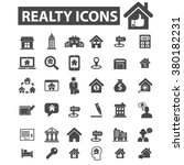 real estate icons | Shutterstock .eps vector #380182231