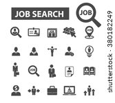 job search icons | Shutterstock .eps vector #380182249