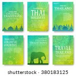 set of thailand country... | Shutterstock .eps vector #380183125
