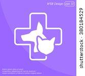 web line icon. veterinary... | Shutterstock .eps vector #380184529