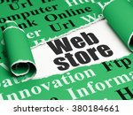 web development concept  black... | Shutterstock . vector #380184661