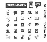 communication icons | Shutterstock .eps vector #380185015