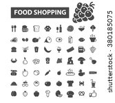 food shopping icons | Shutterstock .eps vector #380185075