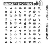 grocery icons | Shutterstock .eps vector #380188081