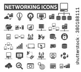 networking icons | Shutterstock .eps vector #380188111
