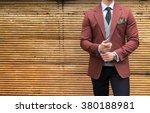 suited man posing  | Shutterstock . vector #380188981