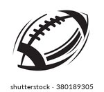 vector black football icons on... | Shutterstock .eps vector #380189305