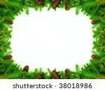 christmas frame for... | Shutterstock . vector #38018986
