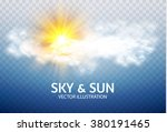 sun   cloud. weather   forecast ... | Shutterstock .eps vector #380191465