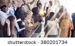 team huddle harmony... | Shutterstock . vector #380201734