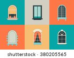 vector flat set of icons for... | Shutterstock .eps vector #380205565
