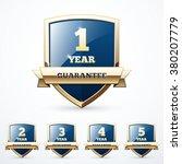 set of guarantee shields | Shutterstock .eps vector #380207779