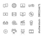 cinema and movie line icons | Shutterstock .eps vector #380216671