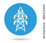 Electricity Pylon Vector Circl...
