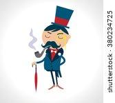 victorian gentleman in a suit...   Shutterstock .eps vector #380234725
