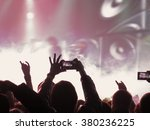 abstract blurred image. crowd... | Shutterstock . vector #380236225