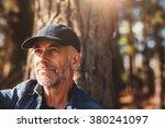 close up portrait of senior man ... | Shutterstock . vector #380241097