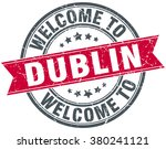 welcome to dublin red round... | Shutterstock .eps vector #380241121