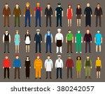 profession people set. vector... | Shutterstock .eps vector #380242057