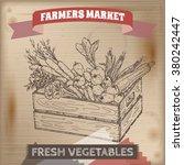 vintage farmers market label... | Shutterstock .eps vector #380242447