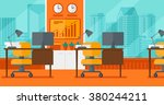 background of office with city... | Shutterstock .eps vector #380244211