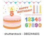 happy birthday greetings | Shutterstock .eps vector #380244601