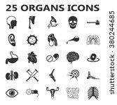 organs icons set.