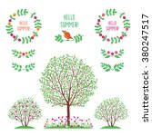 summer  spring background with...   Shutterstock .eps vector #380247517