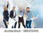 group of joyful excited... | Shutterstock . vector #380252041