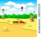vector illustration of a wheat... | Shutterstock .eps vector #380252125