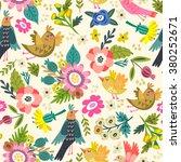 beautiful floral seamless... | Shutterstock .eps vector #380252671